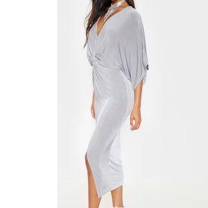 Pretty Little Thing Gray Midi Dress (NEVER WORN)